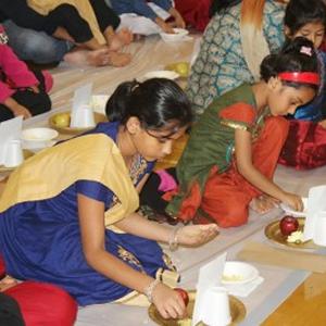 Children's Diwali Samashti Puja