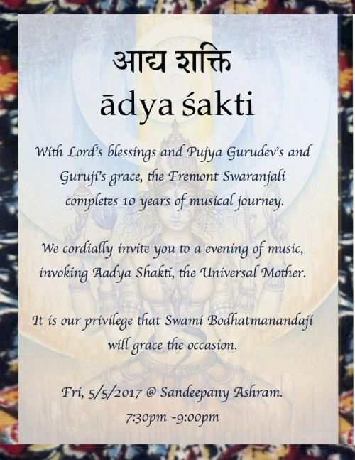 Fremont Chinmaya Swaranjali Tenth Anniversary