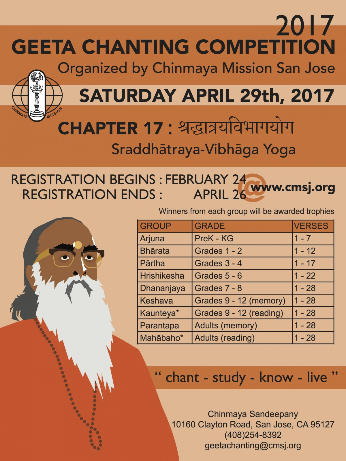 Geeta Chanting Competition 2017
