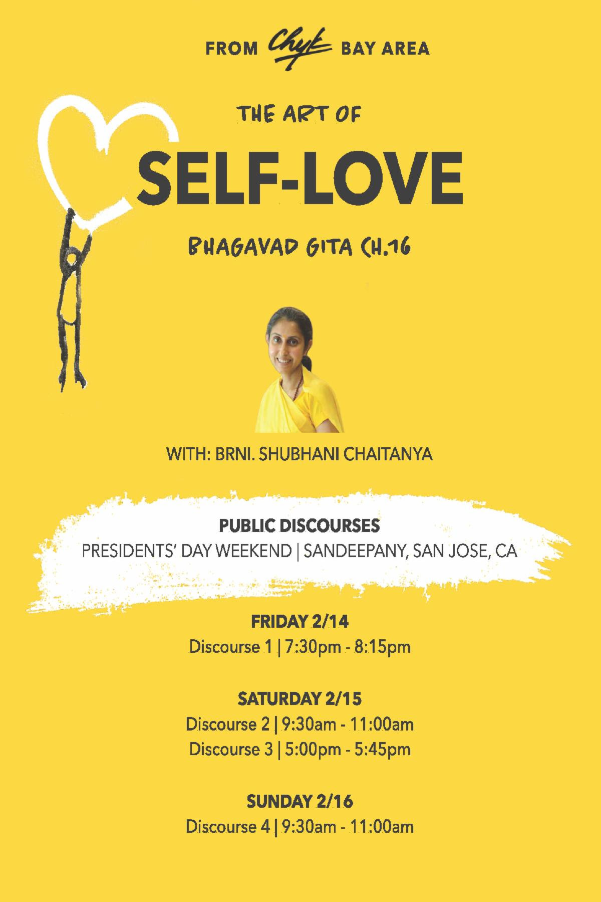"Discourse 4 - ""The Art of Self-Love"""