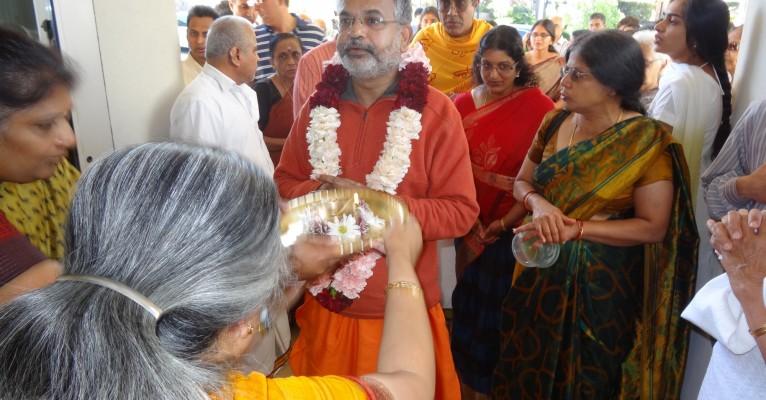 Swami Advaitanandaji's Arrival