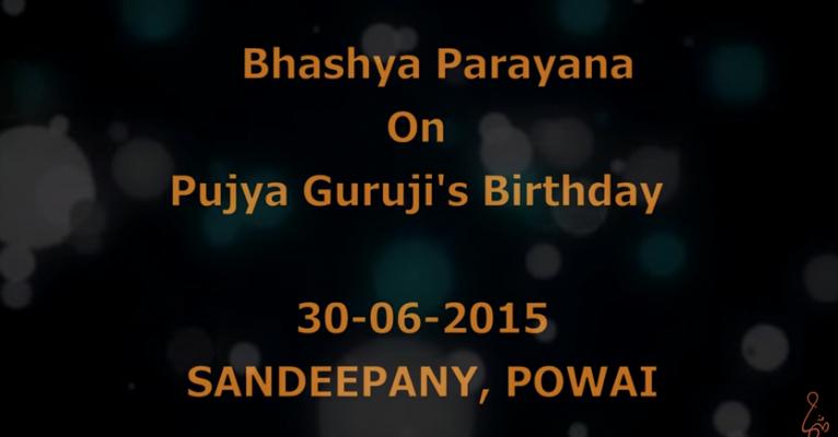 Pujya Guruji's Birthday